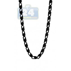 Black PVD Stainles Steel Link Mens Chain 30 Inches