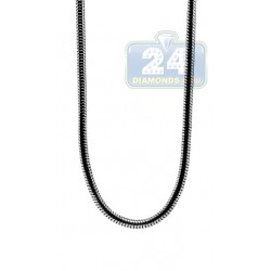 Polished Stainless Steel Snake Mens Chain 30 Inches