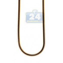 Yellow Gold Plated Stainless Steel Snake Mens Chain 36 Inches
