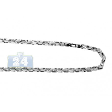 Polished Stainless Steel Mens Bicycle Chain 36 Inches