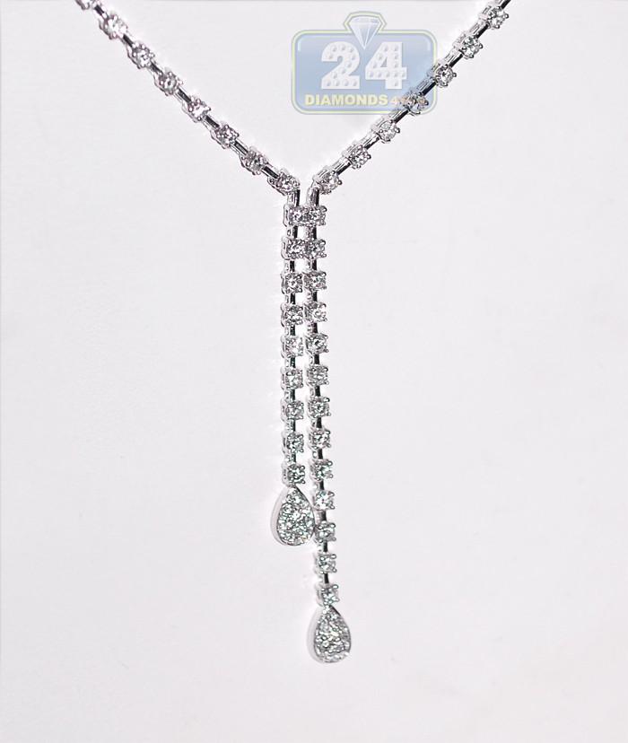 K White Gold Diamond Necklace