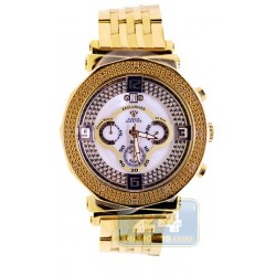 Aqua Master Yellow Gold Diamond Mens Bracelet Pearl Dial Watch