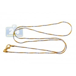 925 Sterling Silver Gold Plated Womens Chain 18 Inches