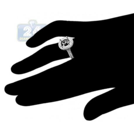 18K White Gold 1.06 ct Diamond Semi Mount Engagement Ring Setting