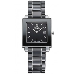 Fendi Black Ceramic Square Womens Watch F621110