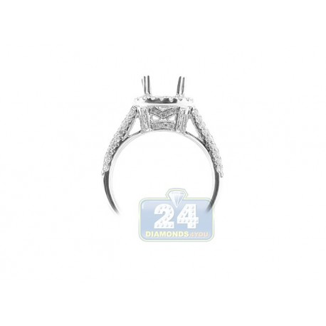 18K White Gold 0.86 ct Diamond Engagement Ring Setting
