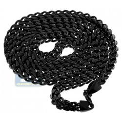 Black PVD Stainless Steel Jumbo Franco Mens Chain 10 mm
