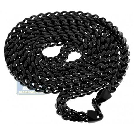 Black PVD Stainless Steel Jumbo Franco Mens Chain 10 mm