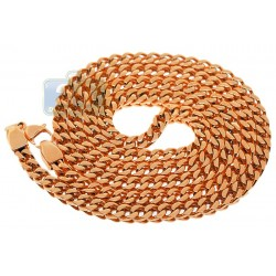 Rose Gold Stainless Steel Solid Franco Mens Chain 6 mm
