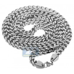 Solid Stainless Steel Jumbo Franco Mens Chain 10 mm