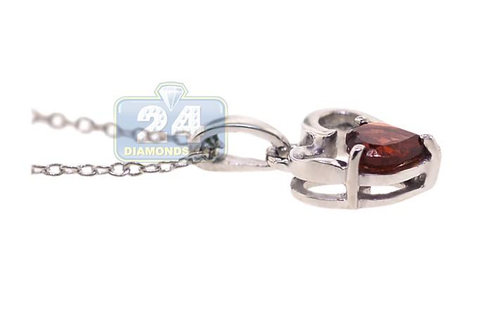 925 sterling silver 050 ct garnet heart pendant womens necklace next aloadofball Gallery