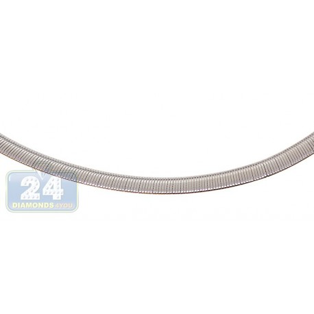 Stainless Steel Womens Omega Chain 18 Inches