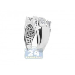 14K White Gold 1.00 ct Diamond Mens Ring