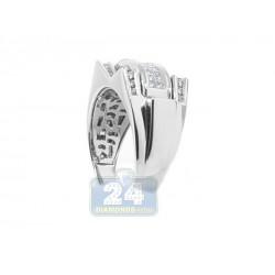 14K White Gold 1.00 ct Diamond Mens Ring