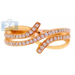 14K Yellow Gold 0.35 ct Diamond Womens Band Ring