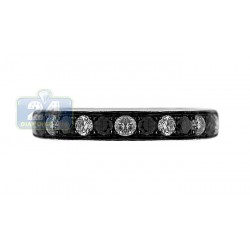 14K White Gold 0.65 ct Diamond Womens Wedding Band Ring