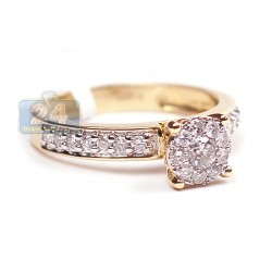 14K Yellow Gold 0.60 ct Diamond Engagement Ring