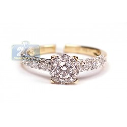 14K Yellow Gold 0.92 ct Diamond Engagement Ring