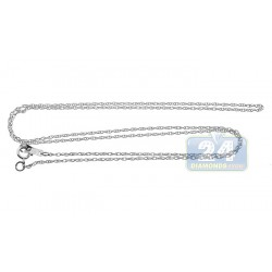 14K White Gold Womens Oval Links Chain 18 Inches