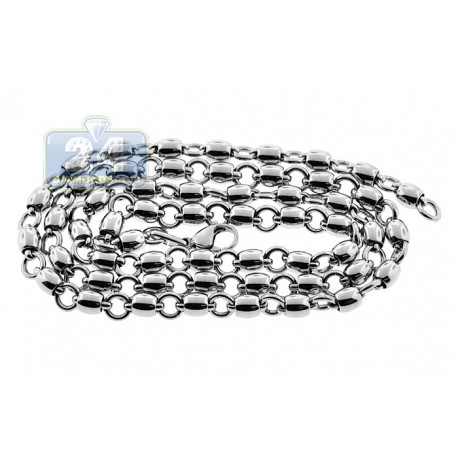 Stainless Steel Mens Link Chain 28 Inches