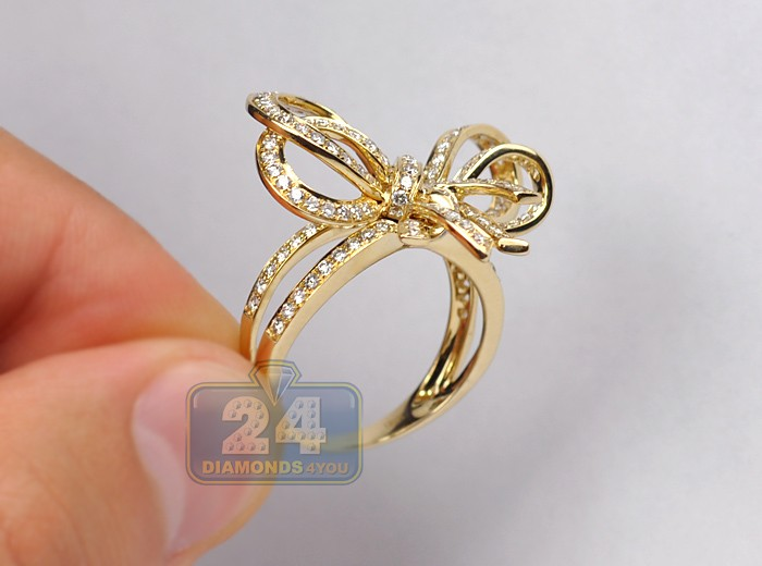 ring as bow rose gold rings views product more cute duck