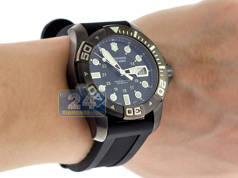 olive ebay swiss victorinox mens master itm watch green s dive watches divemaster men retail army