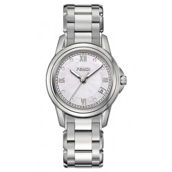 F235240D Fendi Loop Round Diamond MOP Dial Womens Watch