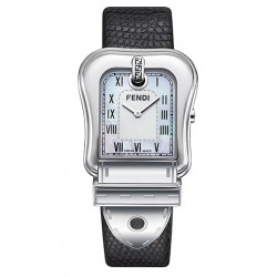 F371141 Fendi B. Fendi Black Lizard Strap Steel Case Watch