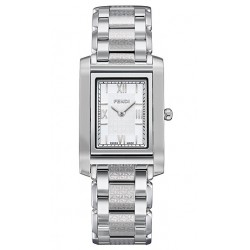 F765240 Fendi Loop Rectangle White Dial Womens Watch 21mm