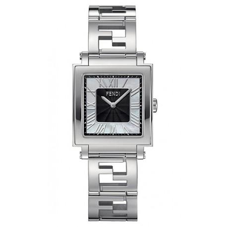 F605031000 Fendi Quadro Medium Black Dial Womens Watch 25mm
