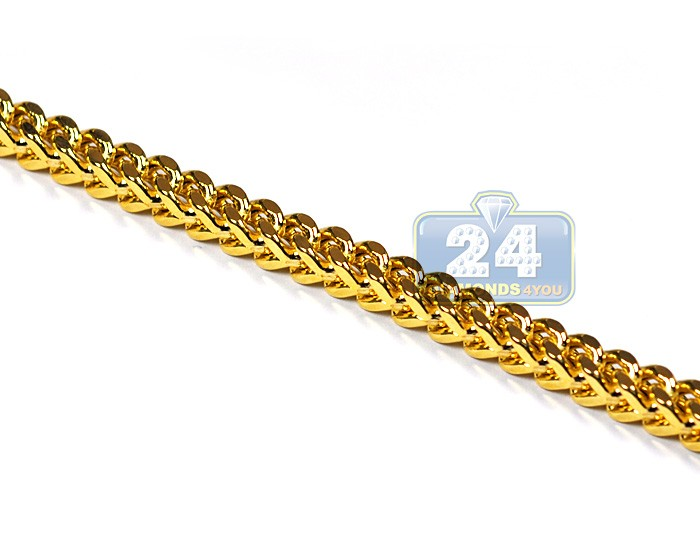 Real 10k Yellow Gold Solid Franco Mens Chain 5 Mm 30 32 36 40 Quot