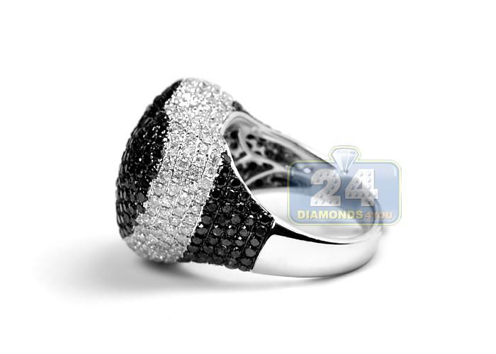 womens black white diamond heart shape ring 14k gold ct. Black Bedroom Furniture Sets. Home Design Ideas