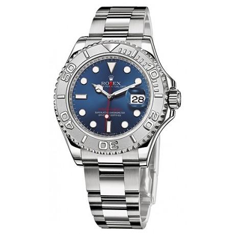 e008619b265 Rolex Yacht-Master Rolesium Blue Dial Mens Watch 116622