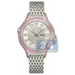 F105037100P4P02 Fendi Precious Pave Crazy Carats Pink Sapphire Watch 38mm