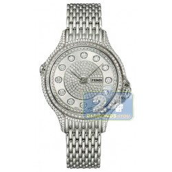 F105034000P4P02 Fendi Precious Pave Crazy Carats Diamond Watch 38mm