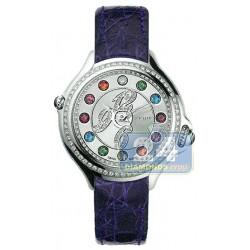 F104036033B3T05 Fendi Crazy Carats Purple Leather Watch 38mm