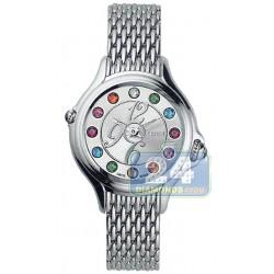 F105026000T05 Fendi Crazy Carats Silver Dial Bracelet Watch 33mm