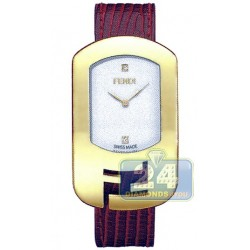 F300434073D1 Fendi Chameleon Red Strap Womens Yellow Gold Watch 29mm