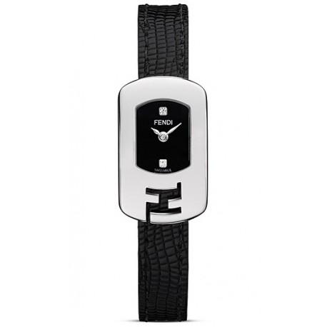 F300021011D1 Fendi Chameleon Black Dial Womens Steel Watch 18mm