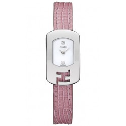 F300024071D1 Fendi Chameleon Pink Strap Womens Steel Watch 18mm