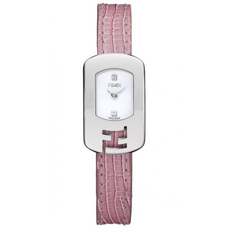 F300024071D1 Fendi Chameleon Pink Strap Womens Steel Watch 18mm