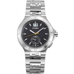 F477110 Fendi High Speed Dual Time Black Dial Mens Watch 43mm