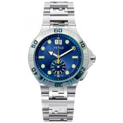 F478130 Fendi High Speed Dual Time Blue Dial Mens Watch 43mm