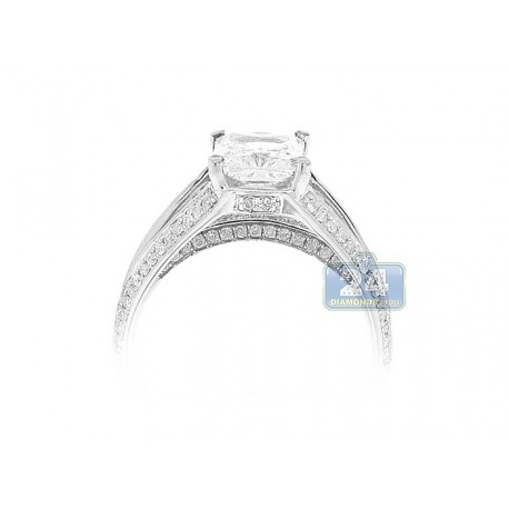 14K White Gold 0.50 ct Diamond Engagement Ring Setting