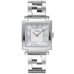 F605014000 Fendi Quadro Large White MOP Dial Womens Watch