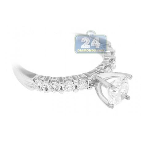 18K White Gold 0.55 ct Diamond Engagement Ring Setting