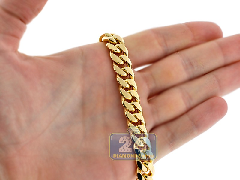 Mens Miami Cuban Link Chain Real 10k Yellow Gold 10mm 30 Quot
