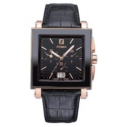 Fendi Black Ceramic Square Mens Watch F654111