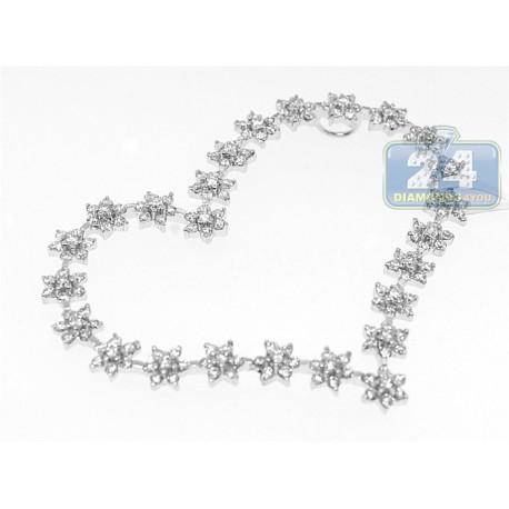 18K White Gold 2.66 ct Diamond Heart Pendant