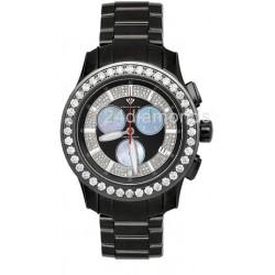 Aqua Master Power 8.00 ct Diamond Black Watch 0800